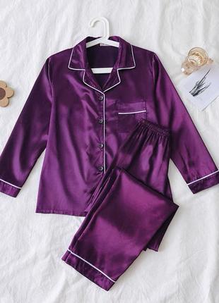 Стильная сатиновая пижама