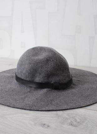 Шерстяная фетровая шляпа h&m с широкими полями