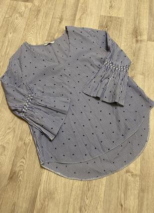 Блуза в полоску звёздный принт george