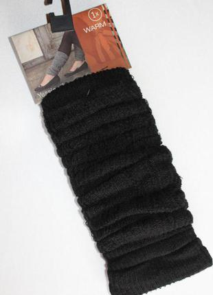 Тонкие осенние гетры с коттоном, чёрные, модный аксессуар,  германия.