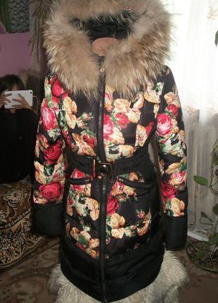 Зимнее пальто кико холлофайбер