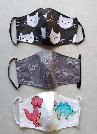 Детские маски для девочек и  мальчиков на 5-6 лет по сниженной цене