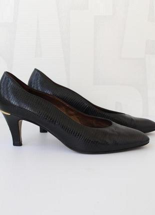 Шикарные кожаные туфли с тиснением под рептилию от peter kaiser
