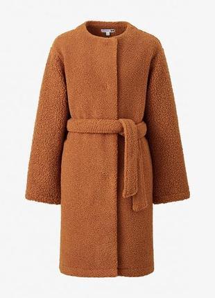 Пальто-чебурашка рыжее, из лимитированной коллаборации uniqlo x jw anderson