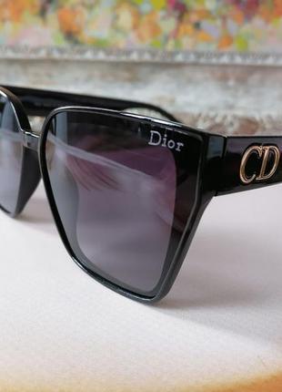 Чёрные солнцезащитные женские очки с поляризацией