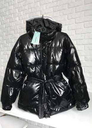 Новые фирменные деми куртки пуффер глянец размеры s,m,l