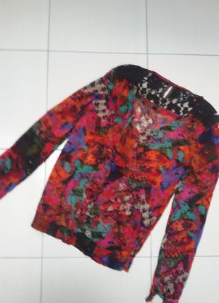 Интересная блузка низ на резинке р 38-40
