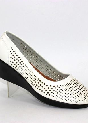 Женские летние белые туфли большие размеры 100-16