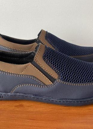 Туфли мужские весенние летние синие - чоловічі туфлі весняні літні сині