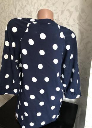 Шикарная блуза блузка горох оорошек модная стильная трендовая