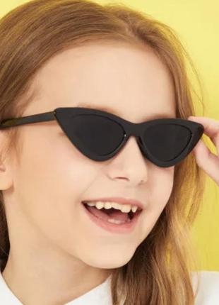 Акция! детские солнцезащитные очки лисички, узкие детские очки