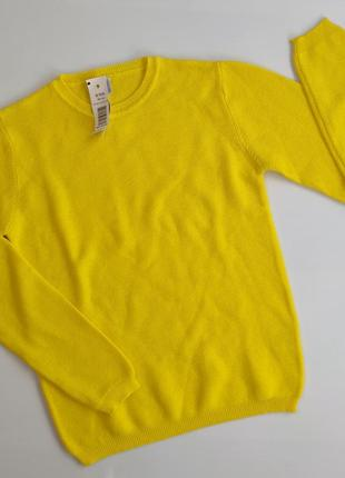 Мега крутая желтая вязаная кофта,  пуловер,  реглан idexe италия, 140 см,  9 - 10 лет