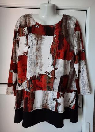 Туника, блуза с авангардным принтом. saloos. британия.