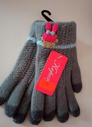 Тепленькі рукавички для дівчинки 4-6 років sale