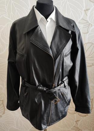 Кожаная куртка-косуха  canda