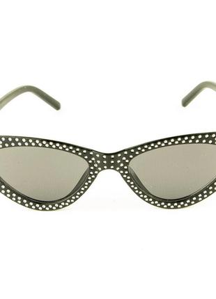Женские очки кошачий глаз - черные черными линзами