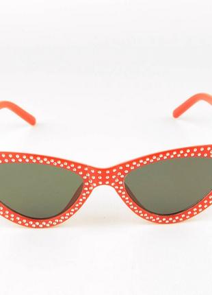 Женские очки кошачий глаз - красные с черными линзами