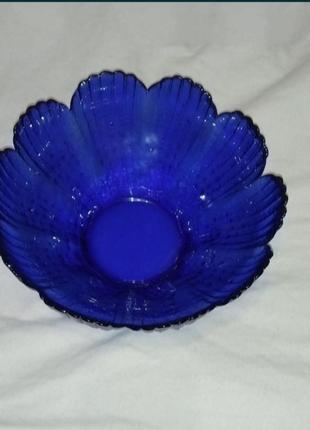 Ваза ссср, синяя массивная ваза, салатник, конфетница