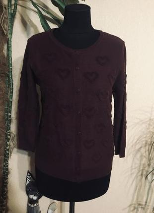 🌹 стильная🌹 кофта свитер кардиган с сердечками