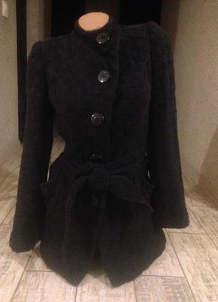 Ликвидация товара#чёрное короткое демисезонное пальто h&m