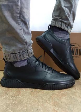 Ортопедические кожаные туфли под кеды rondo 40-44р.