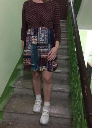 Платье/плаття/сукня  в стиле бохо  pull&bear