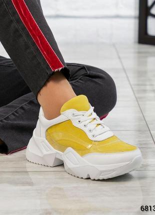 Кожаные кроссовки натуральная кожа замша