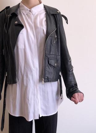 Кожаная куртка new york