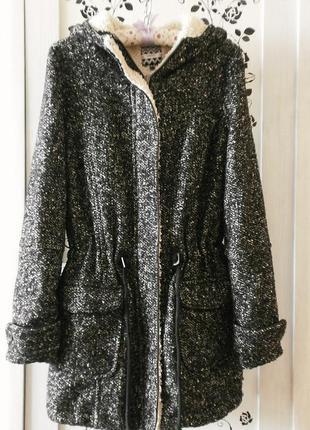 Пальто ♡ парка ♡ next ♡ большие карманы ♡ удобный капюшон ♡ молния и кнопки