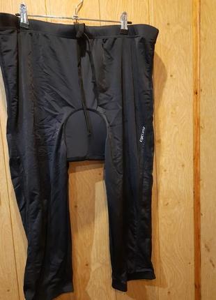 Вело бриджи-капри, ниже колена, на шнуровке, с памперсом
