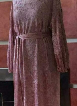 Шикарное велюровое платье размер 48-52