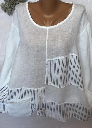 Шикарная рубашка лен 100% италия