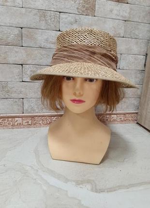Шляпа кепка из соломки