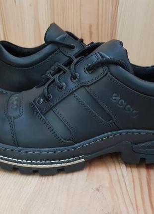 Мужские кожаные туфли прошитые