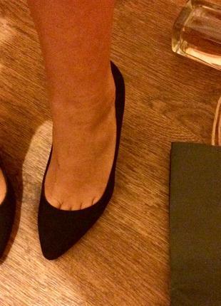 Туфли классические h&m натуральный замш