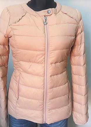 Короткий натуральный пуховик, стеганая демисезонная куртка италия s,m,l