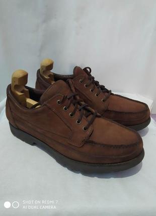 Кожаные комбинированные туфли rockport gore-tex
