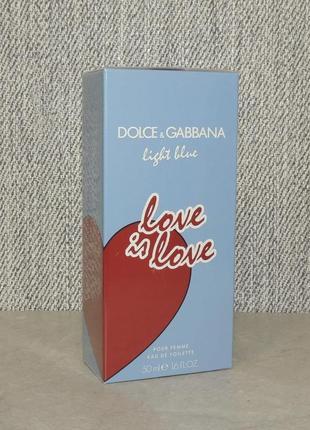 Dolce & gabbana light blue love is love pour femme 50 мл для женщин оригинал