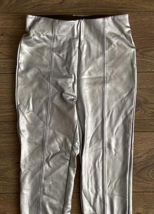 Лосины штаны кожаные xs zara