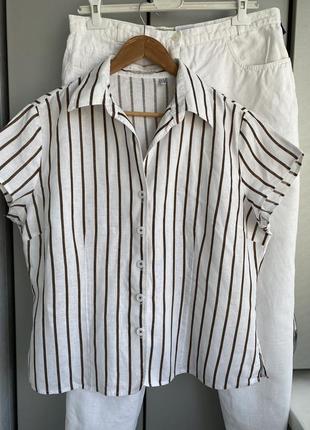 Льняная рубашка marko pecci оригинал