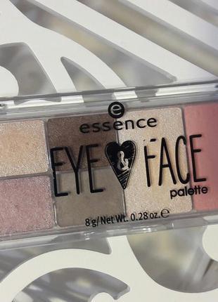 Палетка для глаз и лица essenсe glow for it-тени,румяна и хайлайтер