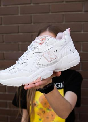 Женские кроссовки nb 608 белые