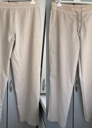Льняные брюки fransa