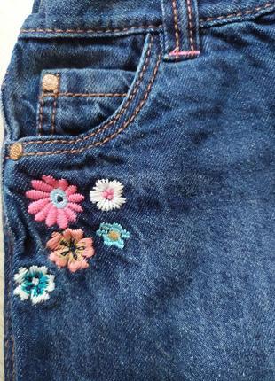 Джинсовая юбка аппликация на девочку