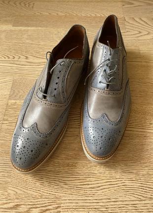 Новые дизайнерские кожаные туфли bata premium 45 размер