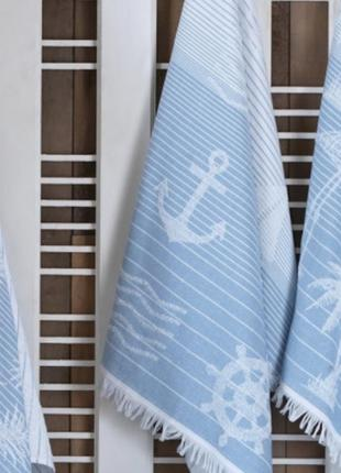 Пляжное полотенце размер75х150см 100% хлопок