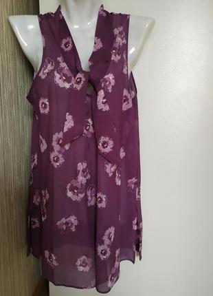 Блузка в цветах,marks &spencer,10р-р