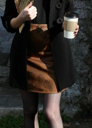 Винтажная коричневая юбка