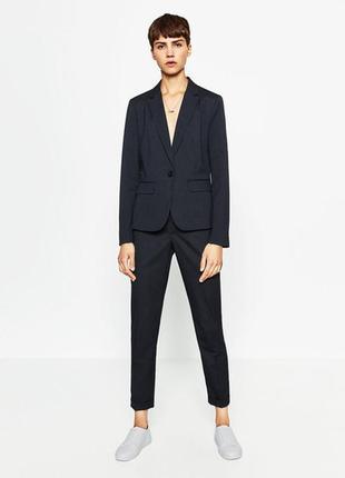 Q11 стильный пиджак на одну пуговицу zara