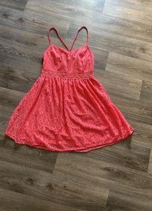 Коралловое платье сарафан от new look